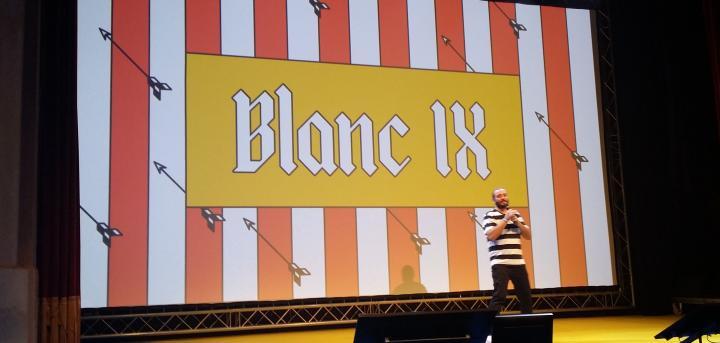Heráldica renovada para el IX Blanc